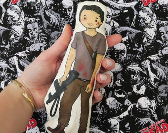 Glenn Rhee- The Walking Dead inspired cartoon, cuddly, fabric, doll, plushie, plush, collectible, TV show, comic book, character