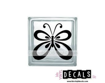 Butterfly - Animal and Pet Vinyl Lettering for Glass and Wood Blocks - Wildlife Craft Decals