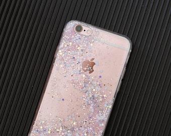 Sakura - glitter case iphone x case iphone 8 case iphone 7 plus case iphone 7 case iphone 6 case samsung note8 case