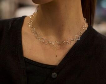Choker necklace, Chain choker necklace, Dainty choker necklace, Christmas gifts, Girlfriend gifts, Sterling silver choker necklace