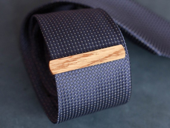 Oak Wood Tie Clip. Slim 10.5 mm ties clip. Groomsmen Tie Clips. Monogrammed Tie Bar. Exotic Wood Tie Clip. Engraved Custom Tie Clip.