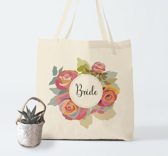 Tote bag, Bride, canvas bag, groceries bag, beach bag, laptop bag, cotton bag, shopper bag, bachelorette's bag, gift coworker, bambouchic.