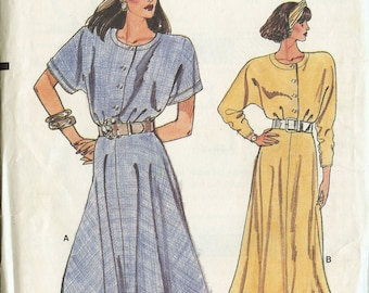 Vogue 9865 Misses Dress Size 14 to 18 Sewing Pattern