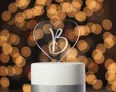 Engraved Cake Topper, Monogram Cake Topper Wedding, Initial Cake topper, Custom Cake Topper, Wedding Cake Topper, Cake Topper (T356)