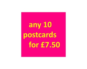 Choose Any 10 Postcards, Set of Vintage Postcards, Set of Funny Postcards, Any 10 postcards, Retro Postcards Set, Hen Party Postcard Set