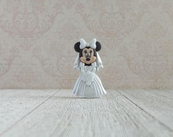 Bride - Minnie Mouse - Wedding - Disney - Disney World - Wedding Dress - Marriage - Love - Commitment - Lapel Pin