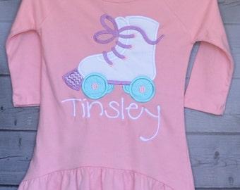 Roller Skate Applique Shirt or Onesie Boy or Girl