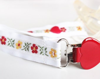 Pacifier clip girl, Soothie pacifier clip, pacifier holder, dummy clip, Baby pacifier clip, Binky Clips, girl pacifier clip, Paci Clip