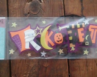 Jolee's Boutique-Dimensional Stickers- Trick Or Treat-Title-Halloween-Brand New