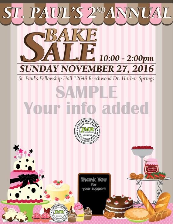 bake sale fundraiser flyer church fundraiser flyer sweet