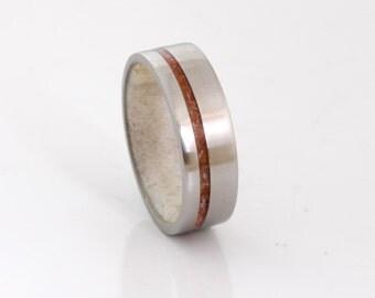 Antler wedding ring titanium wedding band coral ring woman man ring antler ring
