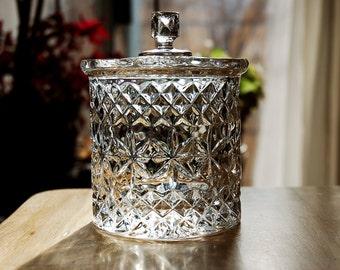 Crystal Jar With Lid Etsy