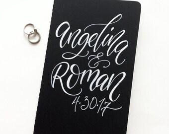 Personalized Wedding Planner Book Journal Bridal Gift Custom