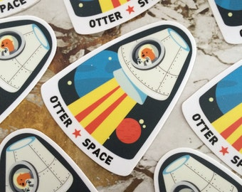 Welcome to Otter Space Die Cut Sticker