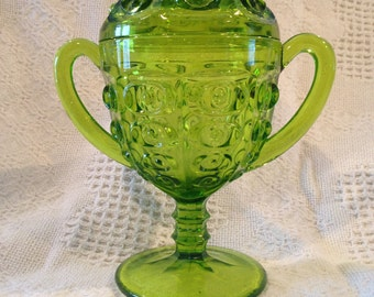 Green Compote Candy Dish