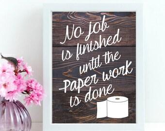 Bathroom Print, Bathroom Decor, Funny Bathroom Quote, Bathroom Wall Art, Bathroom Sign