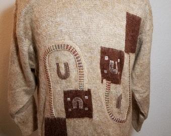 FREE  SHIPPING  Vintage Men Western Sweater