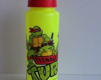Vintage 1988 TMNT Ninja Turtles Sports Water Bottle