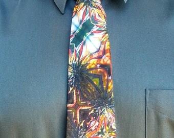Mens Ties, Mens Neckties, Ties, Wedding Ties, Suit Ties for Women, Groomsmen Ties, Floral Print Tie, Tie for Groom, Blue Mountain Lion
