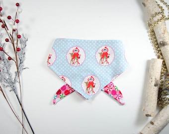 Christmas Dog Bandana - Reversible Dog Bandana - Candy Cane Bandana - Pink Bandana - Winter Dog Bandana - Dog bandana - Dog Accessories