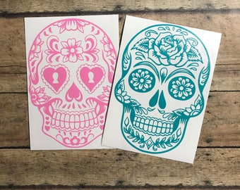 sugar skull decal / sugar skull / day of the dead / skull / skeleton / day / dead /