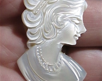 1 Vintage Beautiful Woman Cameo