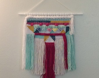 Color Me Pretty Weaving Woven Wall Hanging
