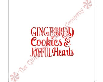 Gingerbread Cookies Joyful Hearts Cookie Stencil