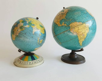 1952 Replogle Air Race Metal Globe