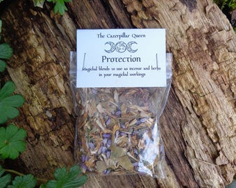PROTECTION Specially blended herbs, flowers, roots and resins for use in spells, rituals, ceremony and invocation. Wicca Pagan