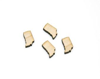 Indiana Wood Shape   Wooden Cabochons   Wood Earring Supplies   Mini Wood Earring Shapes  