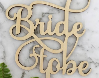 Bride To Be Rustic Wood Wedding Engagement Bridal Shower Cake Topper
