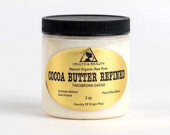 8 oz COCOA / CACAO BUTTER Ultra Refined Organic Fresh Natural Raw Grade A Prime 100% Pure