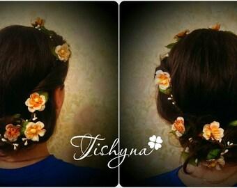 Valentines day Flower Hair Garland Bridal flower crown Wedding Boho Headband Flower Crown Hairpiece Woodland Bridal Wreath Floral Hair Crown
