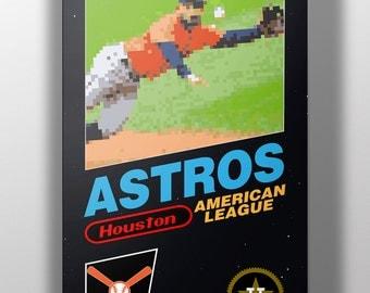 Houston Astros Retro NES Box Art Print- Jose Altuve