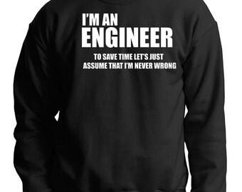 Engineer Sweatshirt Gift For Engineer Occupation Sweater