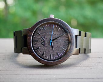 Wooden Watch, Wood Watch for Men, Gift for him, Mens Wooden Watch, Wedding Gift, Anniversary Gift, Groomsmen Gift, Wood Watch, Mens Watch