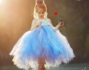 Dusty Blue Flower Girl Dress, Dusty Blue Tutu Dress, Dusty Blue Dress, Dusty Blue Wedding, Dusty Blue Tulle Dress