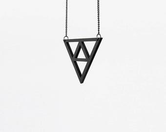 Black Triforce necklace, The legend of Zelda necklace, Black Triforce pendant, Laser cut necklace, Geometric necklace, Zelda pendant