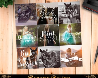 Photography Overlays - Booking Now Overlays, Mini Sessions, Book Session, Marketing Template, PNG overlays,