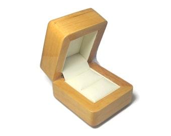 Natural Wood Engagement Ring Box
