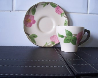Franciscan Desert Rose Demi Tasse Small Coffee Cup and Saucer