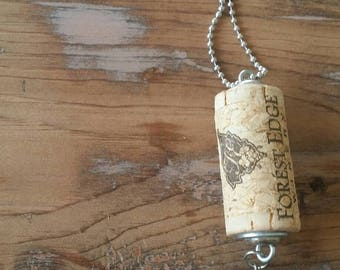 Wine Cork Jewelry, Wine Cork Necklace, Upcycled Necklace, Upcycled Jewelry, Personalized Wine Corks, Wine Gifts for Women