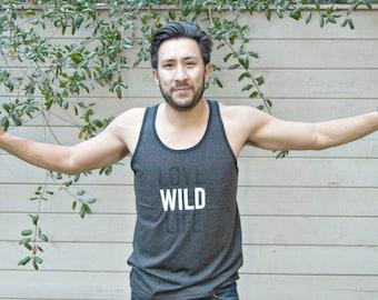 LOVE WILDLIFE TankTop. WILD Workout Tank. Wildlife donation.