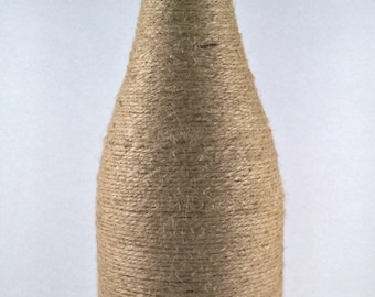 Large Twine Wrapped Bottle