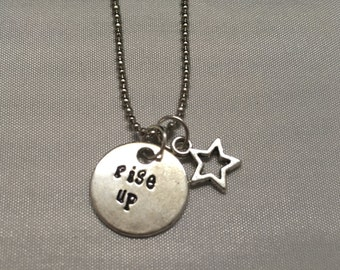 Hamilton Broadway Rise Up Necklace Silver Star - Rise Up Necklace - Handstamped Hamilton Hand Stamped