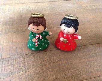 Christmas Angel Salt and Pepper Shakers, Christmas Salt and Pepper Shakers, Angel Kitchen Decor