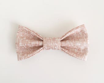 Rose Gold Crosshatch // Rose Gold Bow Tie / Kids Bowtie / Girls Hair Bow / Baby's First Birthday / Baby Shower Gift. Sparkle and Shine