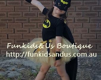 Batman Cape ,mask and Arm band - Batman super hero set