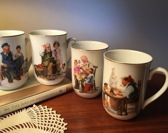 Set of four Norman Rockwell Museum serving cups - two sets may be available